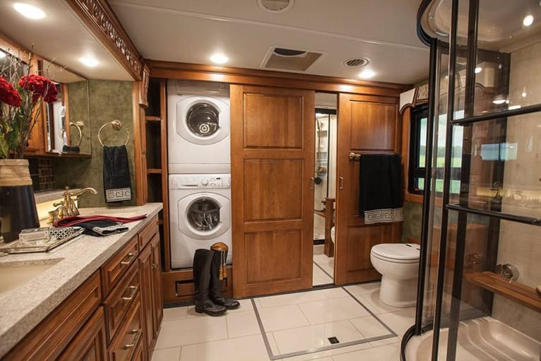 RVs have superior bathroom