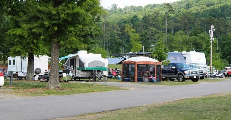 It's easy to access a campsite with your RV