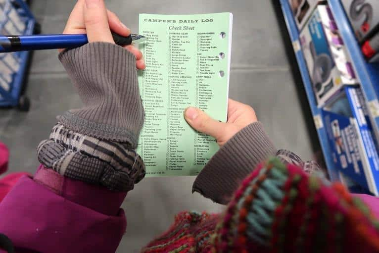 RV shopping checklist