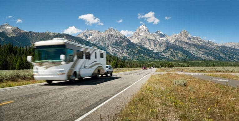 RVing in Yellowstone national park