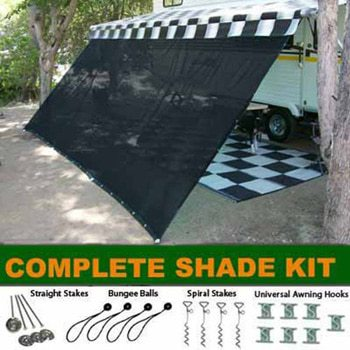 Black RV Awning Shade Complete Kit Review