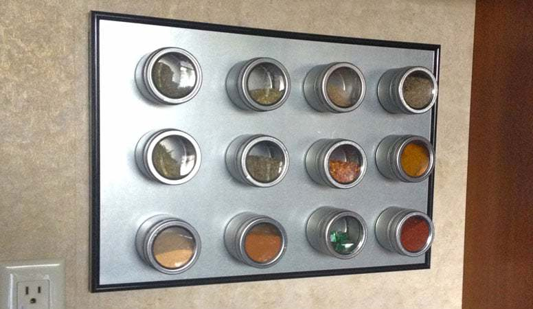 Compact Spice Rack in a RV