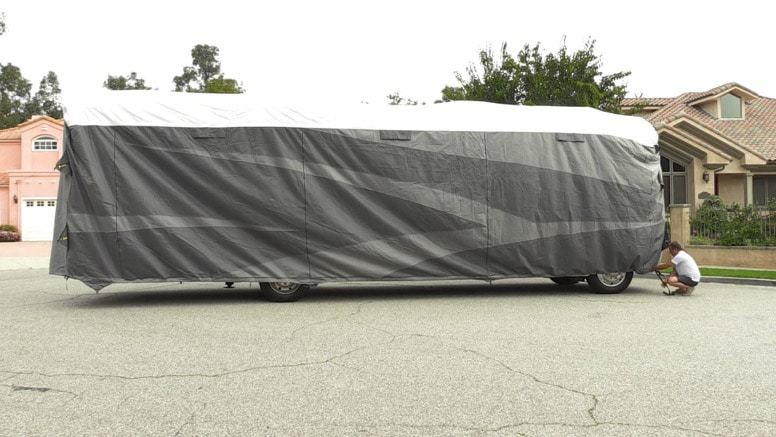 Polypropylene RV cover