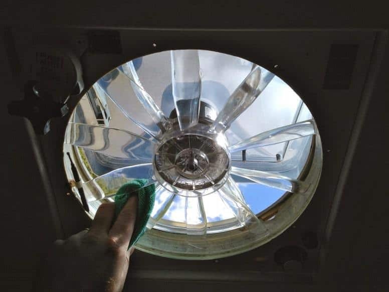 Cleaning your RV vent fan