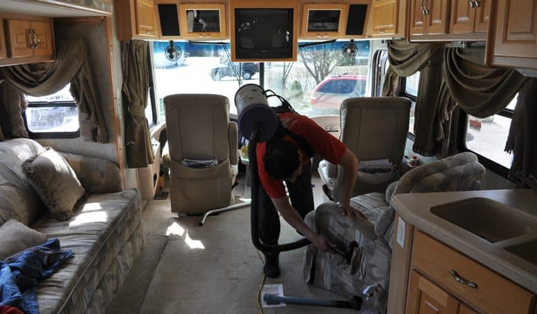 Vacuuming RV