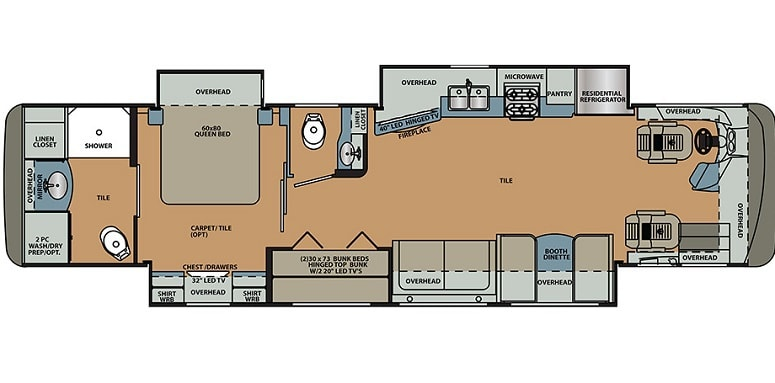 Forest River Berkshire 38A Floor Plan
