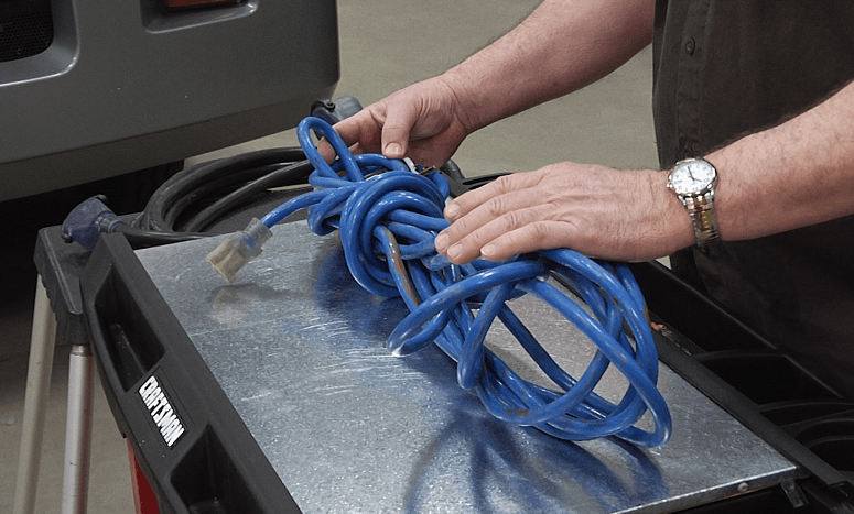 Holding RV Electric Cord