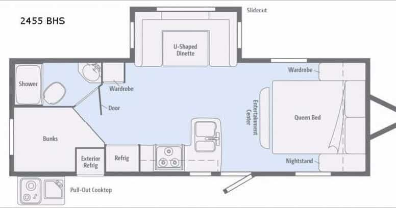 Minnie 2455BHS Floor Plan