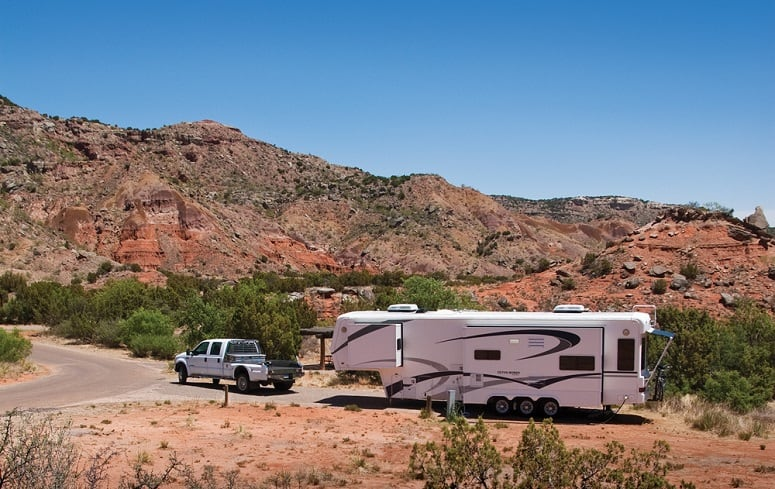 Camp Trailer To Grand Canyon