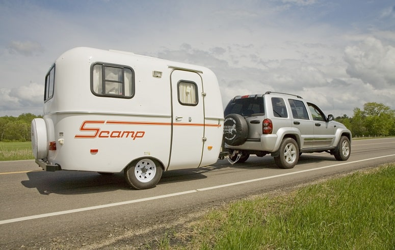 Towing A Small Camper Trailer