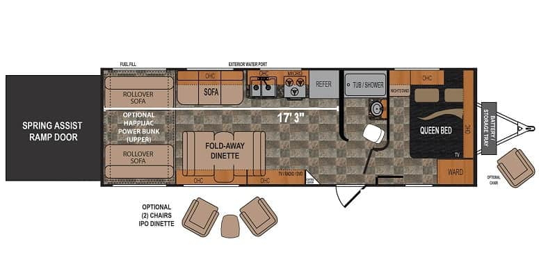 Dutchmen Rubicon 251XLT Floor Plan