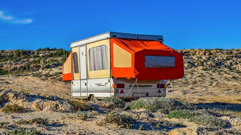 Old Pop-Up Tent Trailer