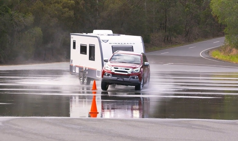 Camper Trailer Towing And Sway