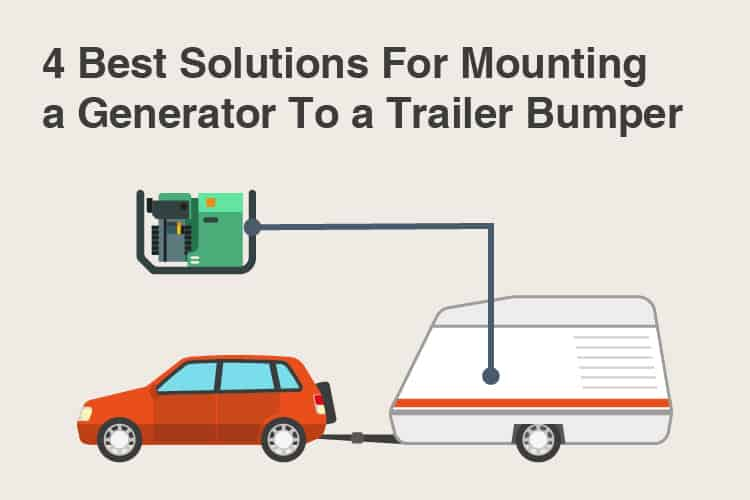 how to mount a generator to your trailer bumper