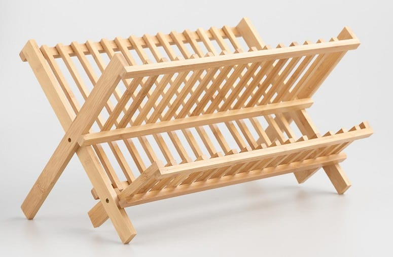 Bamboo Foldable Dish Rack