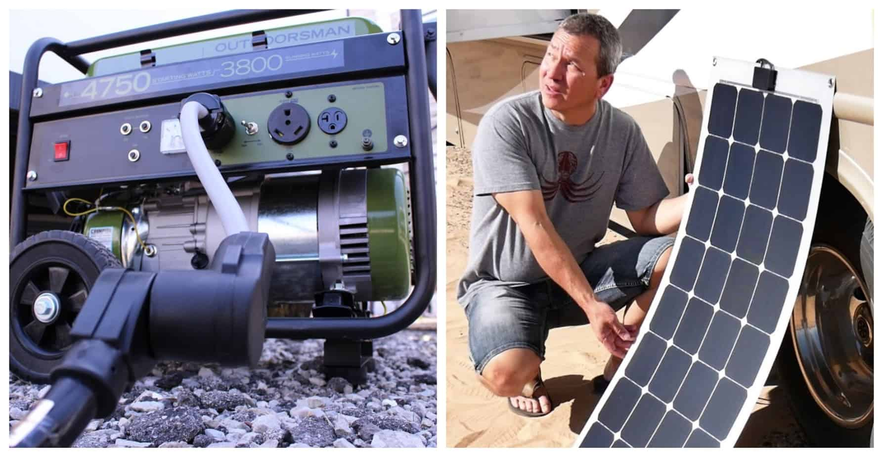 Solar Panels Or Generators For Campers And RVs: What's Best?