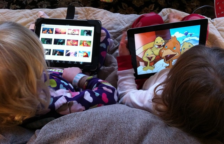 Kids Using Tablets