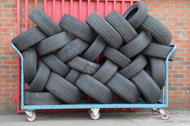 Tires On Pile