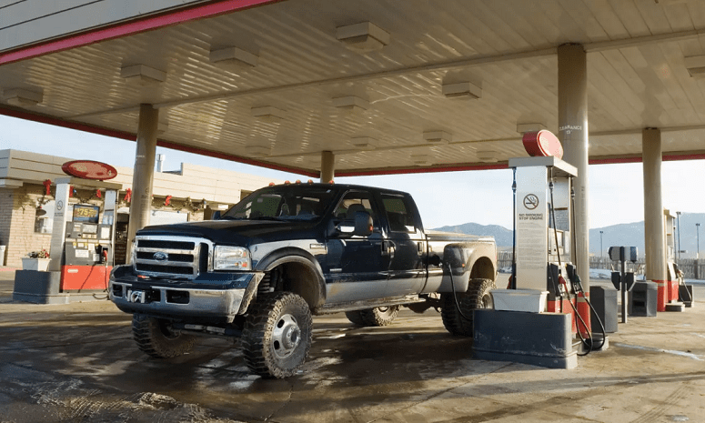 Gasing Up A Pickup Truck