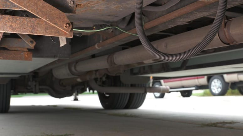 Checking RV Undercarriage