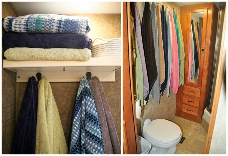 RV Bathroom Storage Solutions