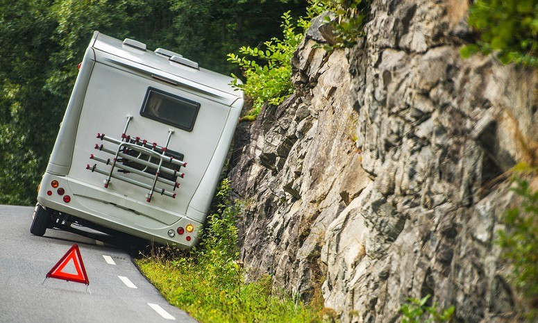 Camper Trailer Road Accident