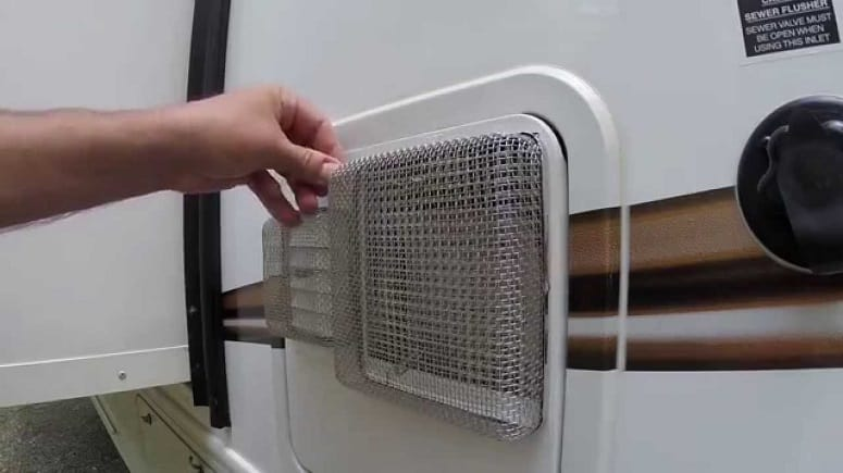 Putting Pest Screen On RV