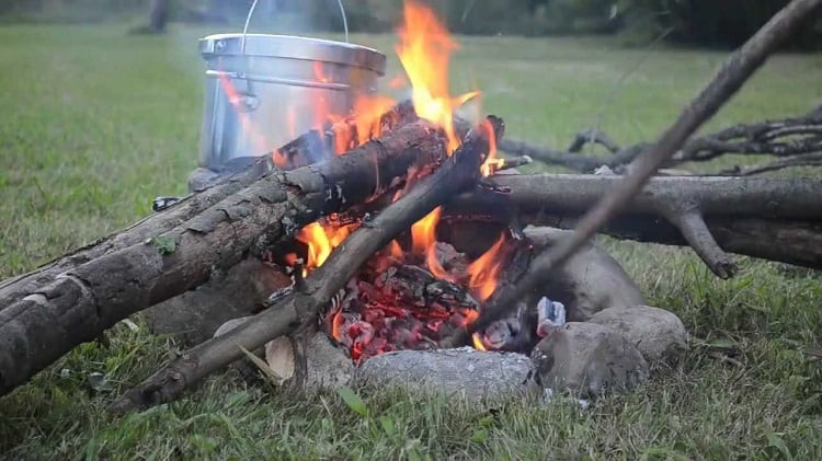 how to cook on open fire