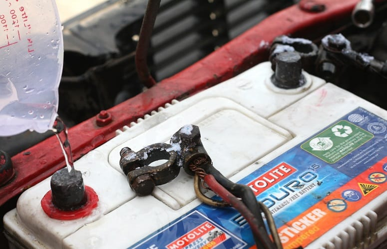 Cleaning Corroded Camper Battery