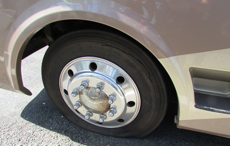 RV Front Flat Tire