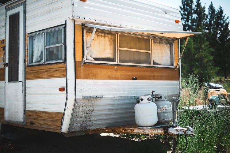 propane and rv trailer
