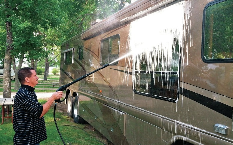 Man Washing RV