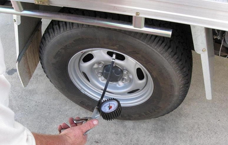 Checking RV Tire Pressure
