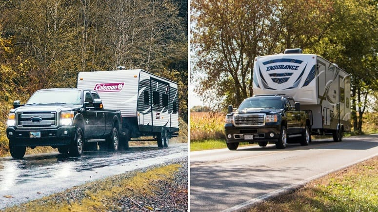 Travel Trailer And Fifth Wheel Towing