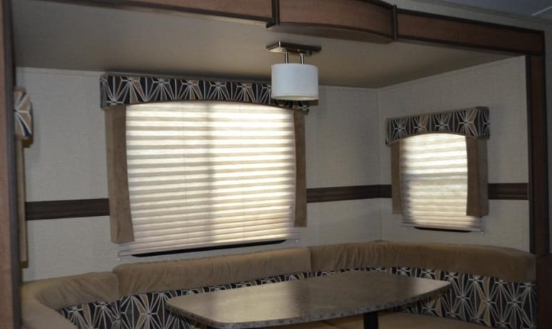 RV Blinds Closed