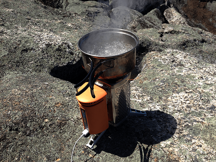 Camping Stove Boiling Water