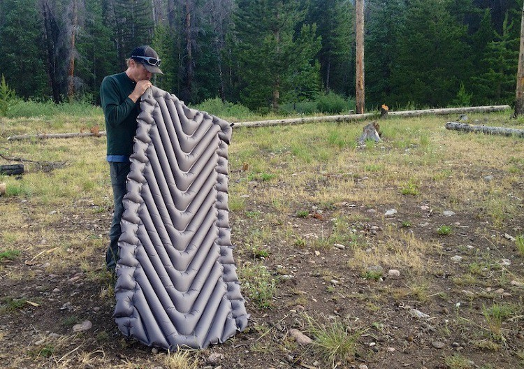 Inflating A Sleeping Pad