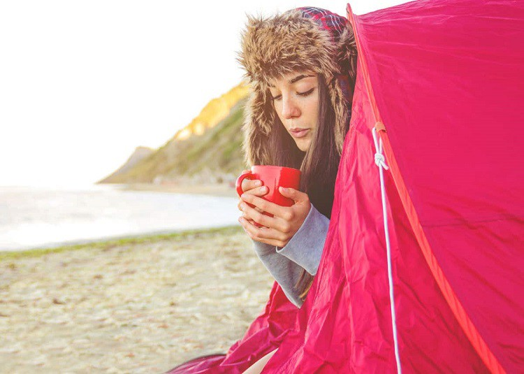 How to keep warm while camping in a tent