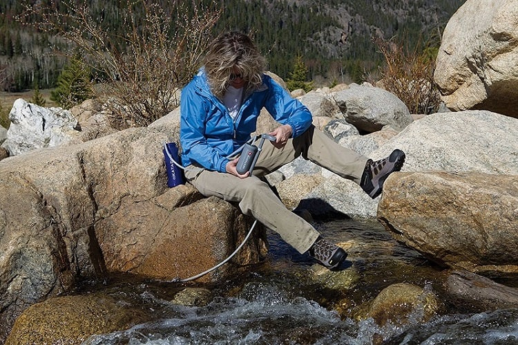 how to change camping water filter