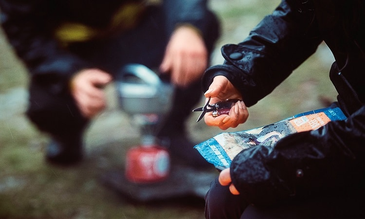multitool use while camping