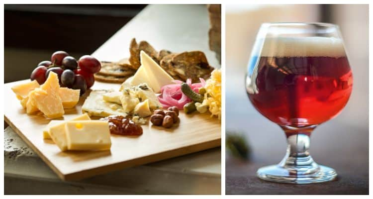 belgian quad and cheese platter
