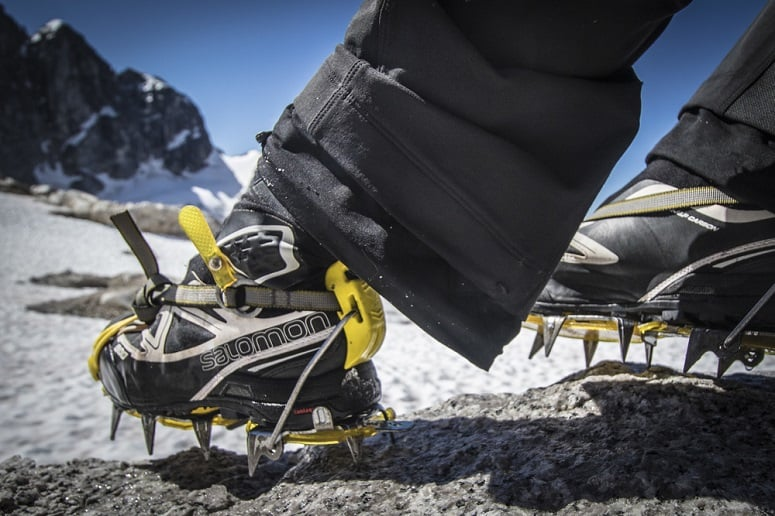 Wearing Shoes With Crampons