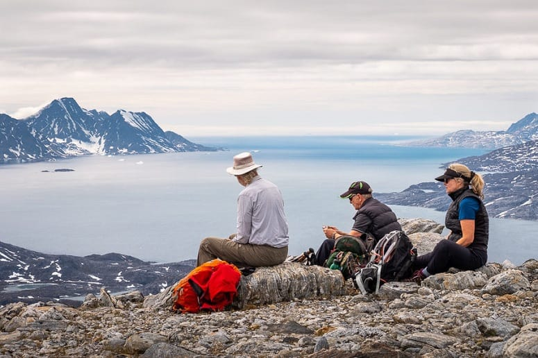Group Of People Resting On Hiking