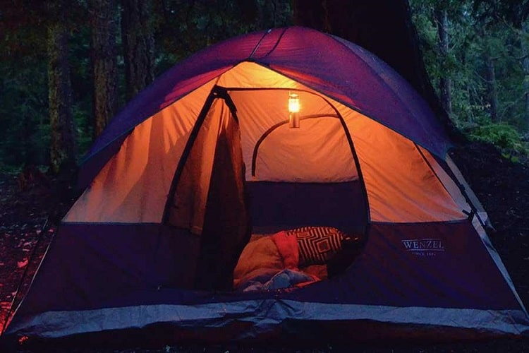 Lantern In a tent