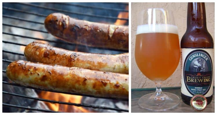 double india pale ale and sausages