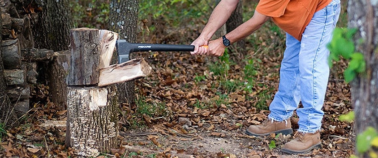 log splitting hatchet