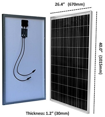 WindyNation 100 Solar Panel