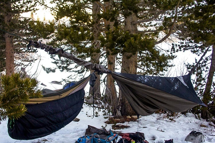winter hammock gear