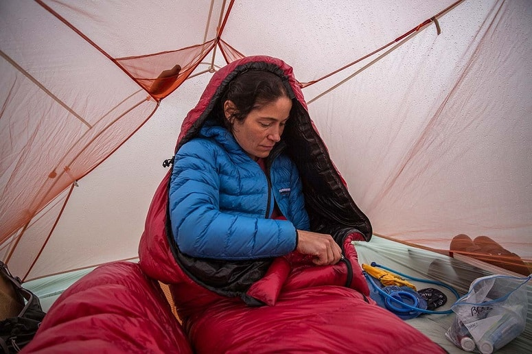 Wearing A Jacket In Tent