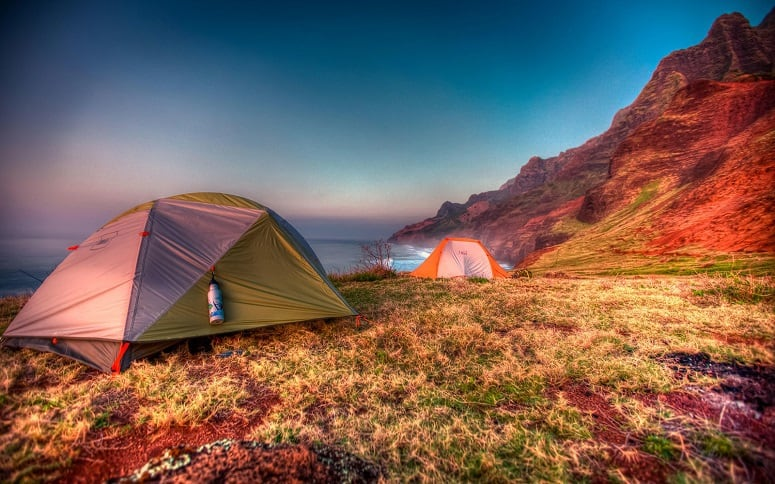 Two Tents On Hawaii